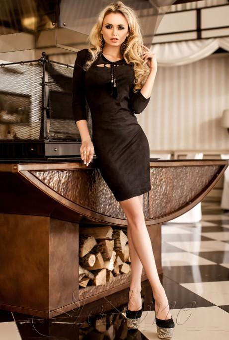 Платье Фукси  черный