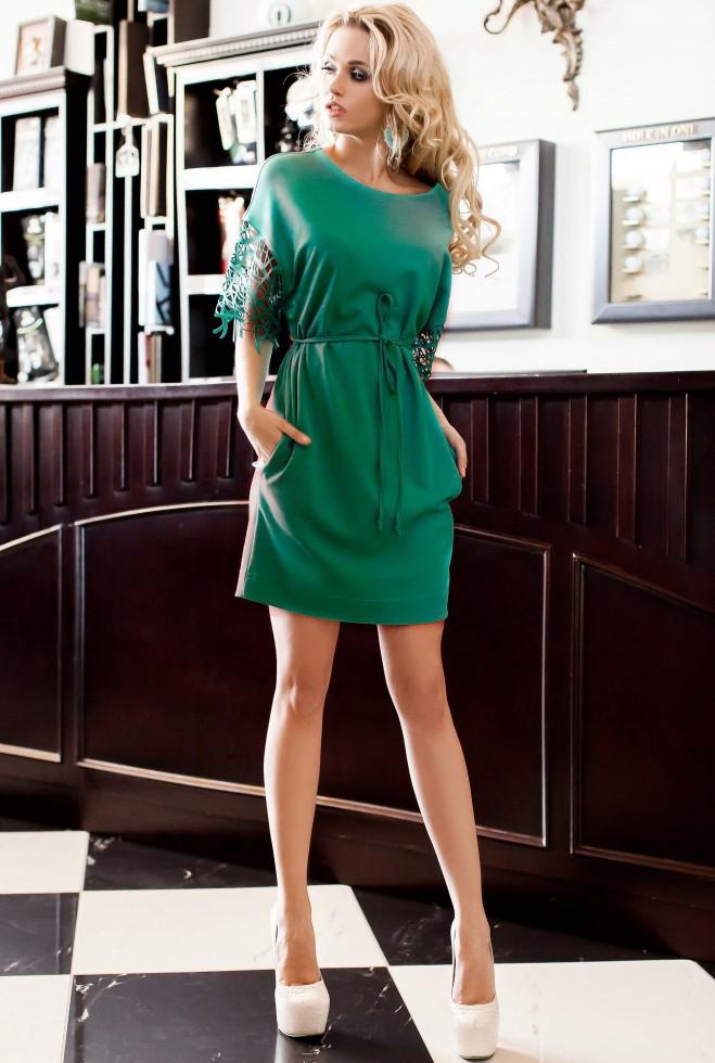Платье-туника Кобби_1 бирюзовый