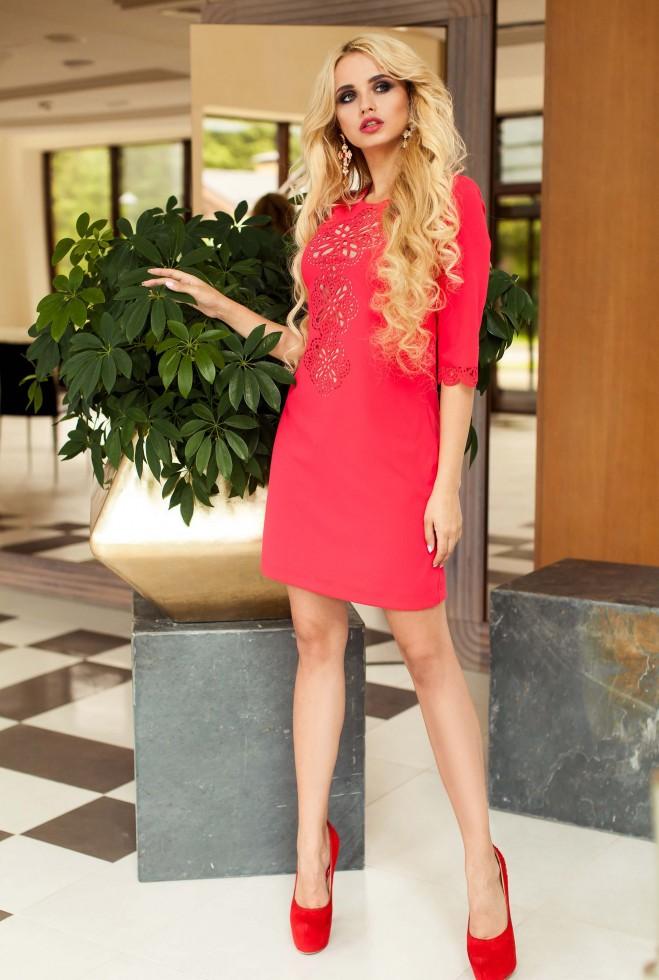 Туника-платье Алания_1 красный Жадон