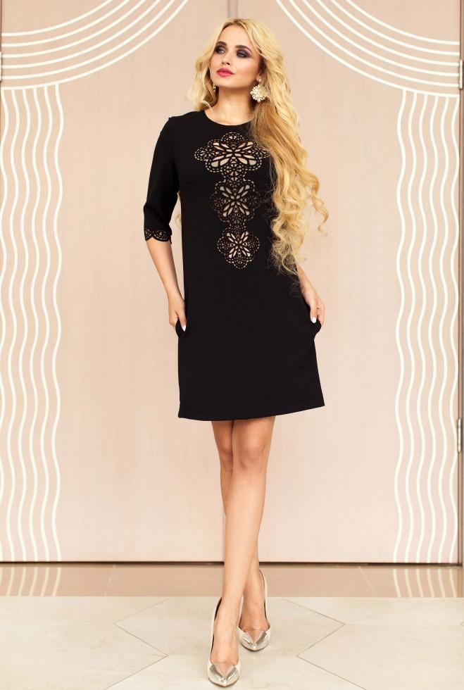 Туника-платье Алания_1 черный Жадон