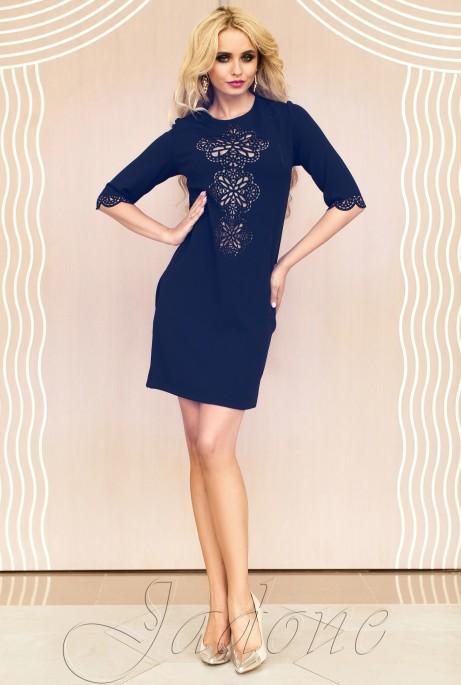 Туника-платье Алания_1 тёмно-синий