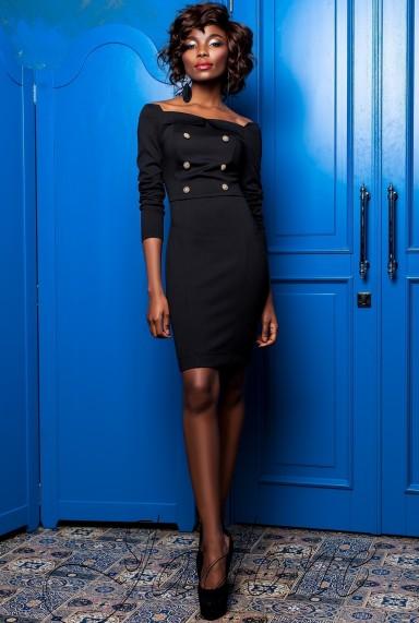 Платье Кристиан черный