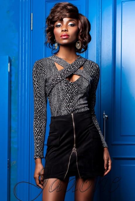 Блуза Бриз комбинированный_2