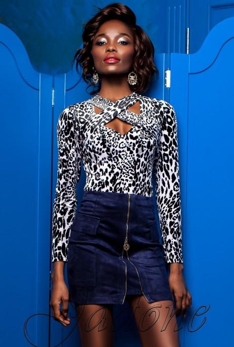 Блуза Бриз комбинированный_3