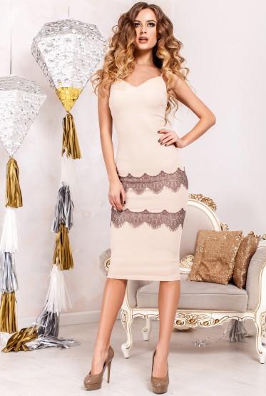 Платье Диана бежевый