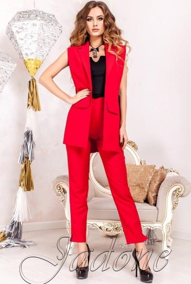 Костюм Ролинс с брюками  красный