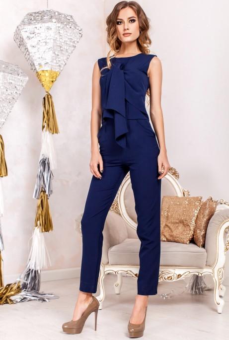 Костюм Моренго с брюками  тёмно-синий