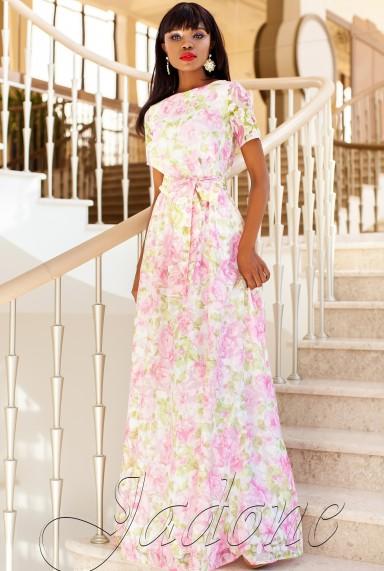 Платье Женин  розовый