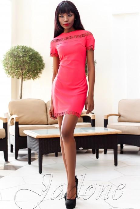 Платье Ранья  красный