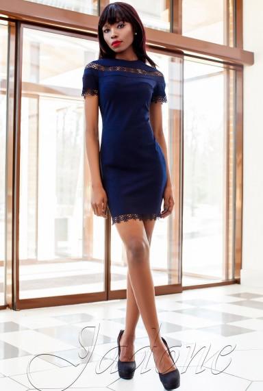 Платье Ранья  тёмно-синий