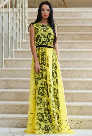 Платье Лоран жёлтый