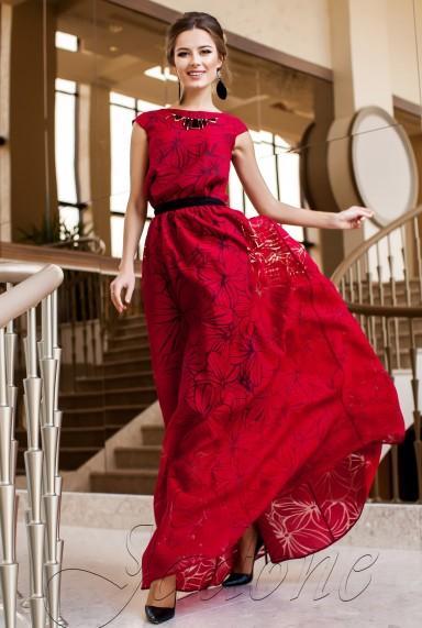 Платье Лоран красный