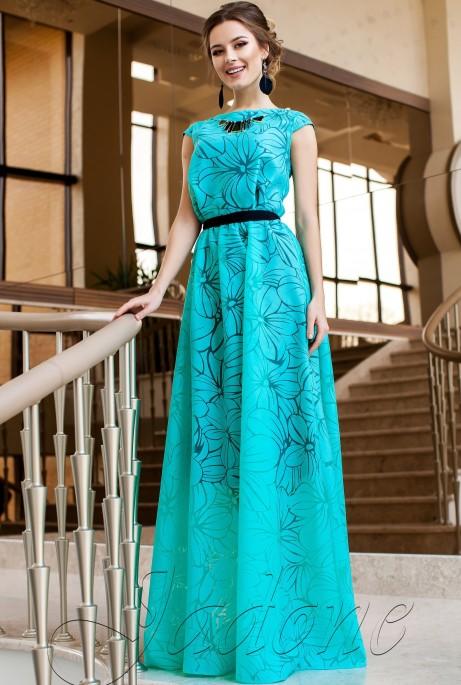 Платье Лоран бирюзовый