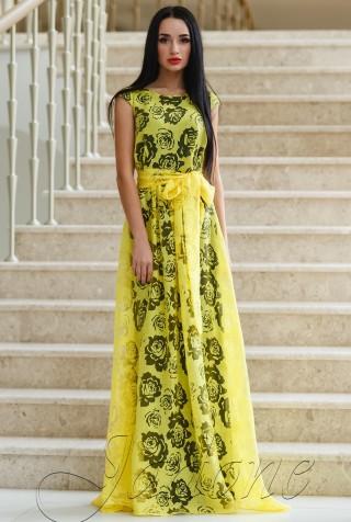Платье Бритни жёлтый