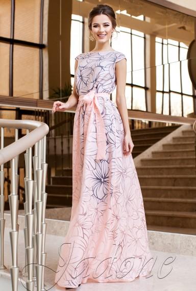 Платье Бритни персиковый
