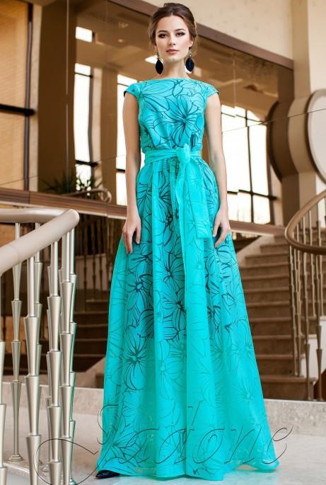 Платье Бритни бирюзовый