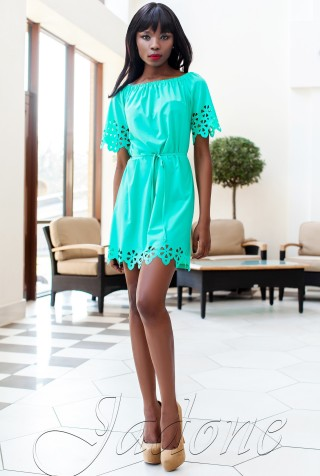 Платье-туника Кения бирюзовый