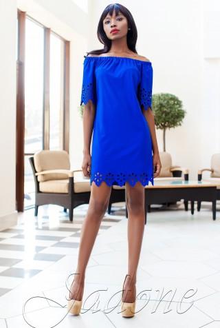 Платье-туника Кения электрик