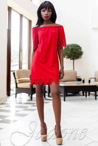 Платье-туника Кения красный