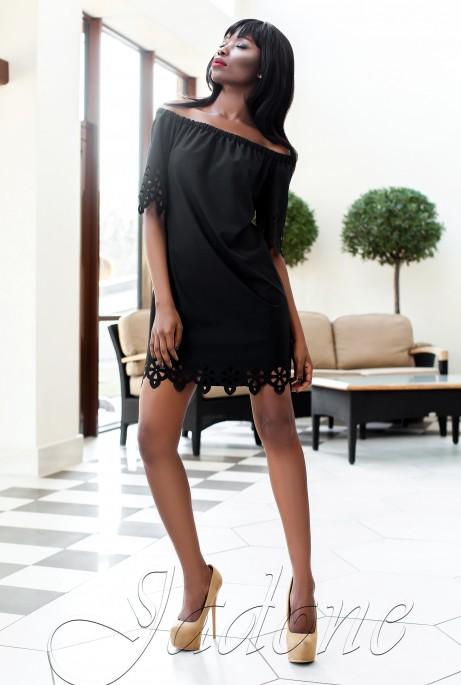 Платье-туника Кения черный