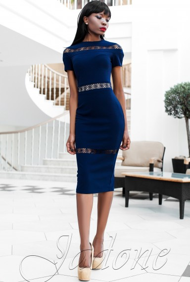 Платье Размарин тёмно-синий