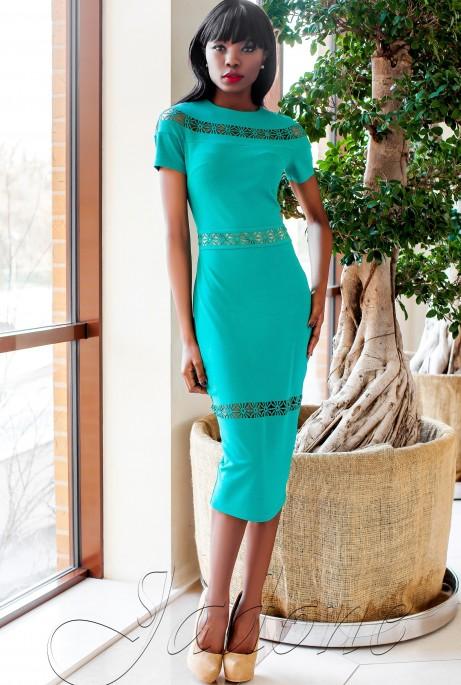 Платье Размарин бирюзовый