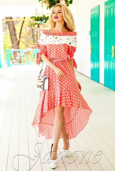 Платье Мира персиковый