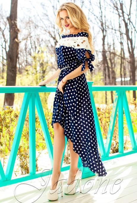 Платье Мира тёмно-синий