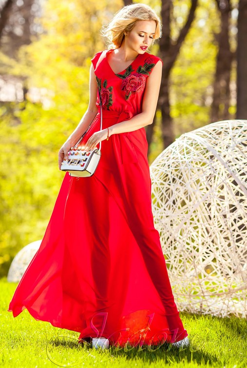 Платье Фико красный