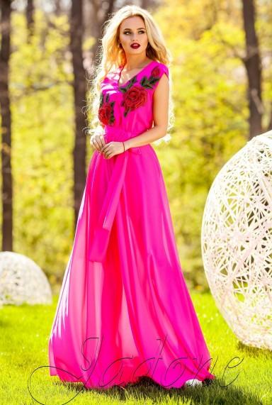 Платье Фико фуксия