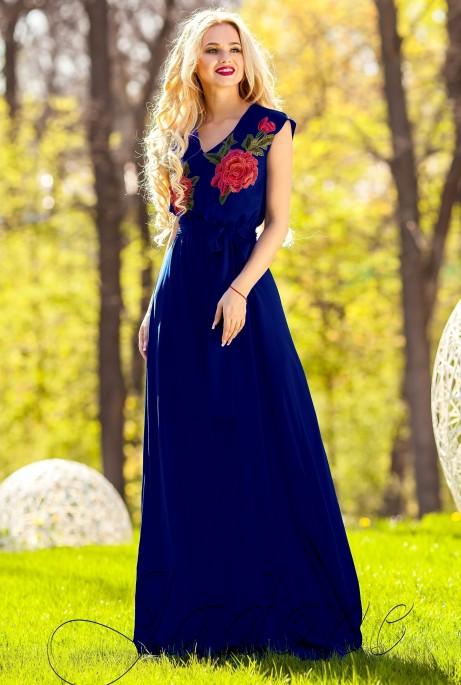 Платье Фико тёмно-синий