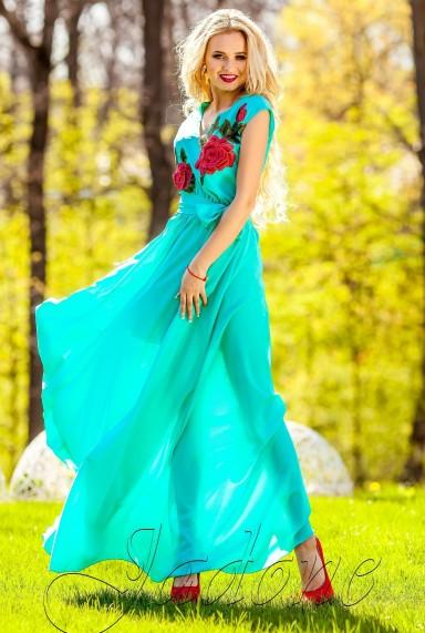Платье Фико бирюзовый