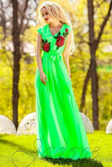 Платье Фико салатовый
