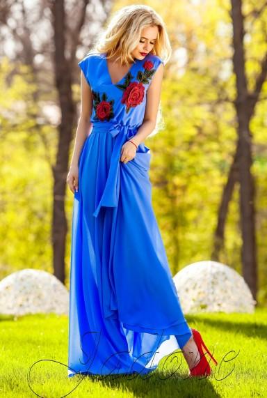Платье Фико голубой