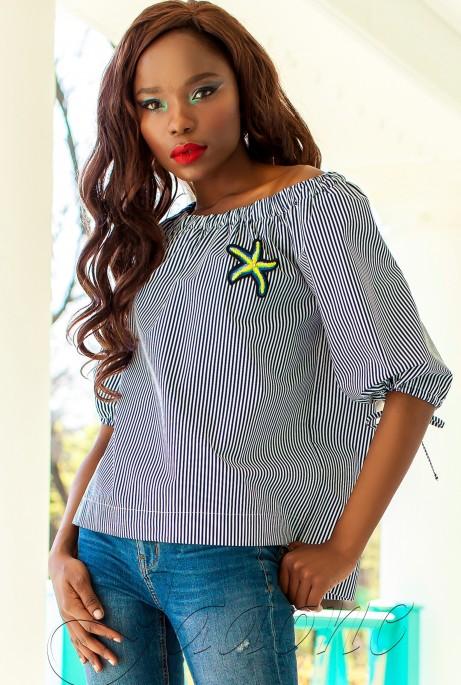 Блуза Сахис комбинированный_2