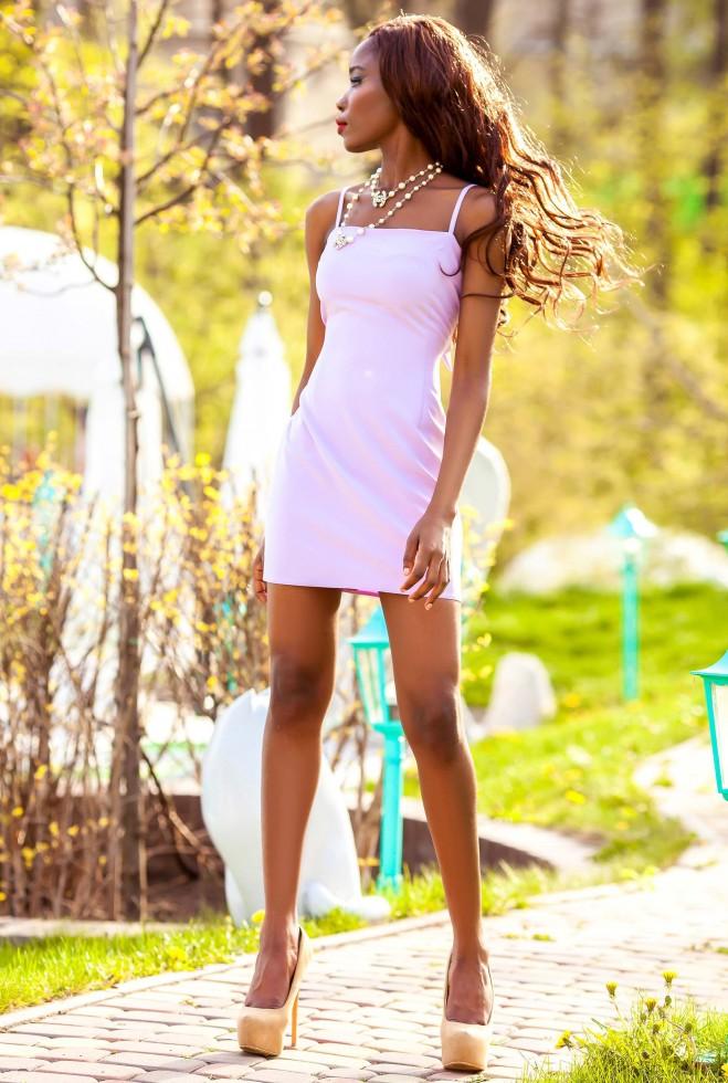 Платье Дона персиковый Жадон