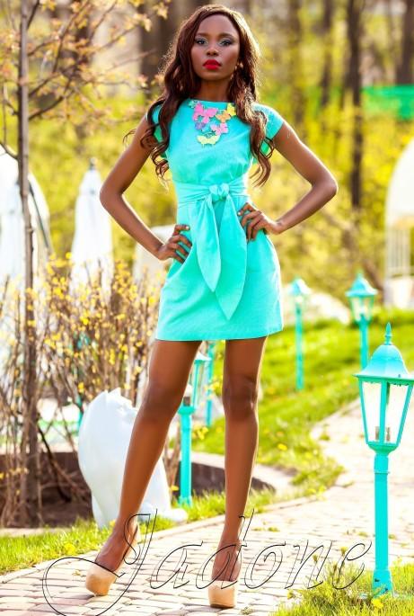 Платье Кора бирюзовый