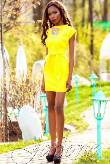 Платье Кора жёлтый