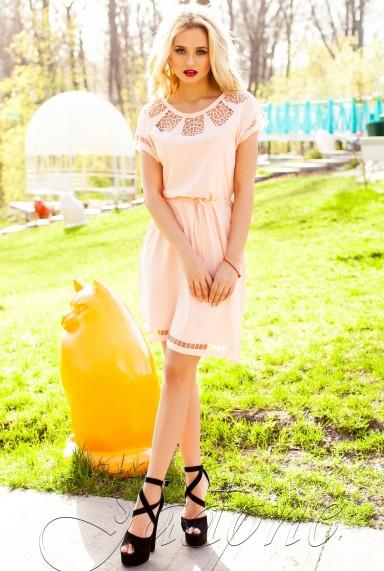 Платье-туника Херес персиковый