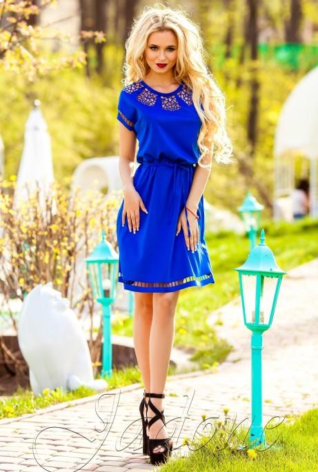 Платье-туника Херес электрик