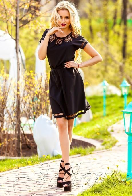Платье-туника Херес черный