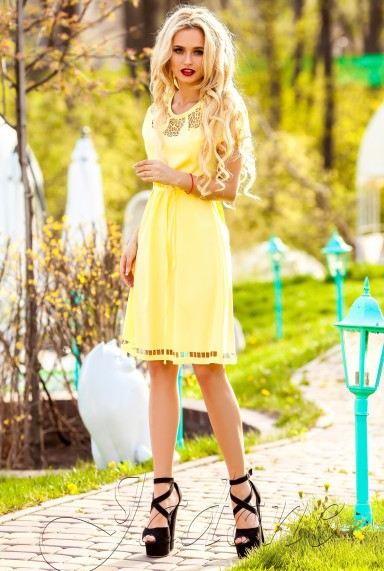 Платье-туника Херес жёлтый