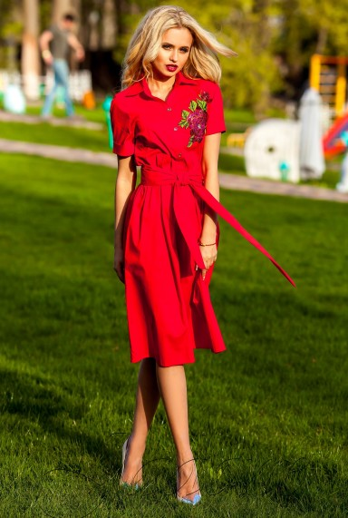Платье Флори красный