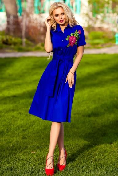 Платье Флори электрик