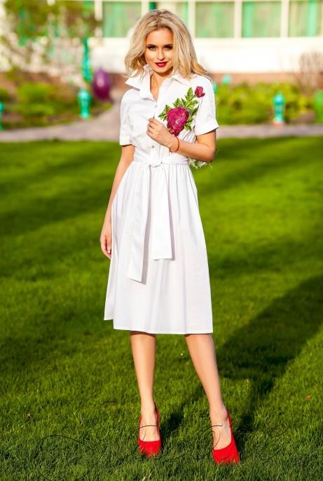 Платье Флори белый