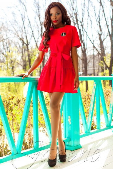 Платье-туника Латино красный