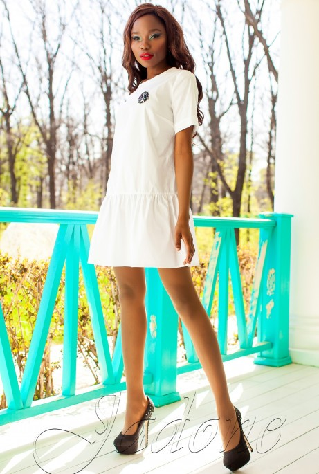 Платье-туника Латино белый