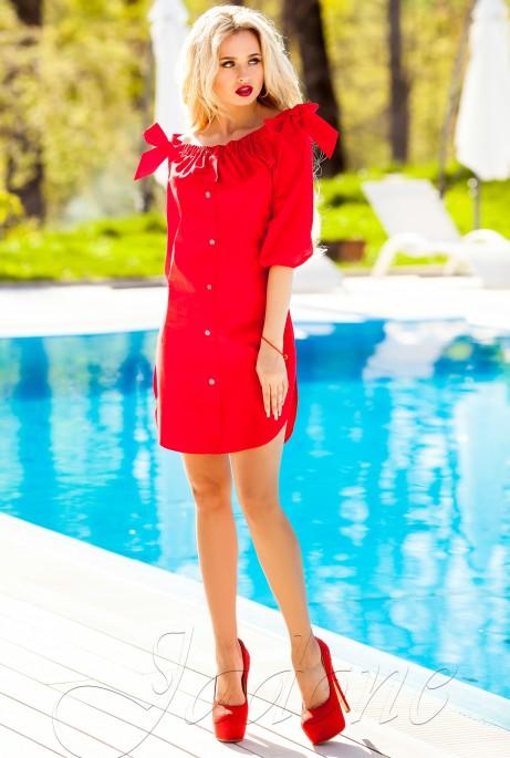 Платье-туника Тина красный