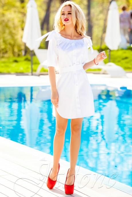 Платье-туника Тина белый