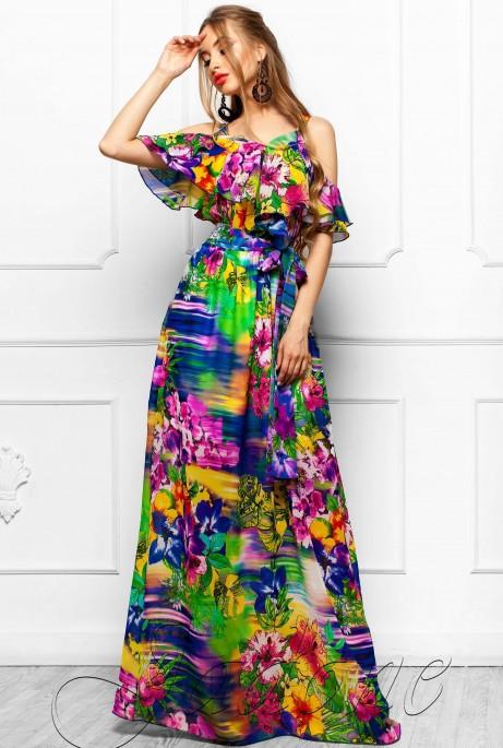 Платье Отим комбинированный